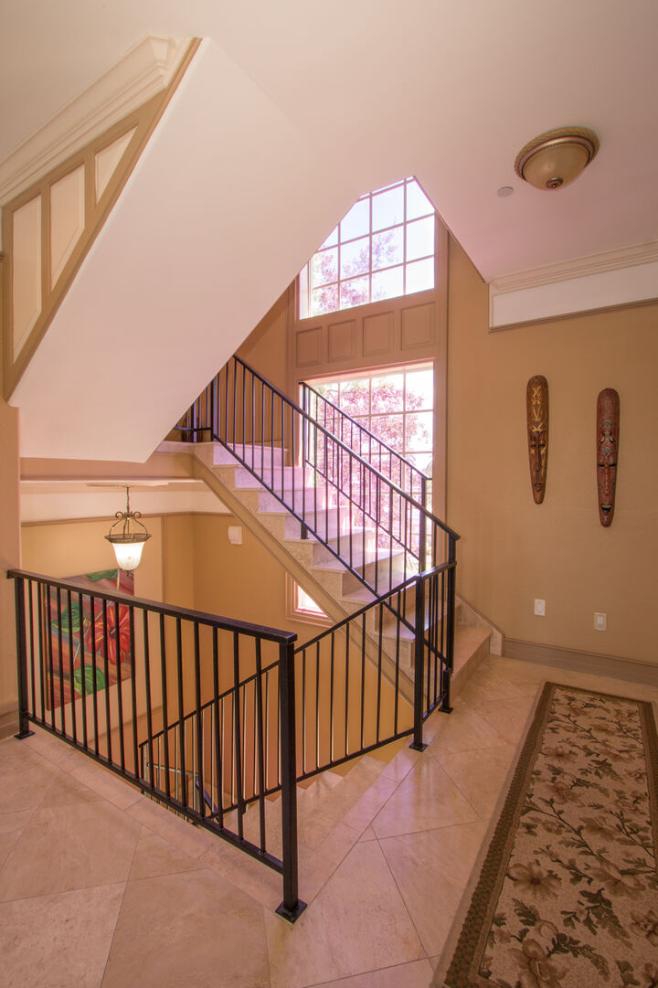 Stairs and hallway in our vacation home in Fort Myers Beach