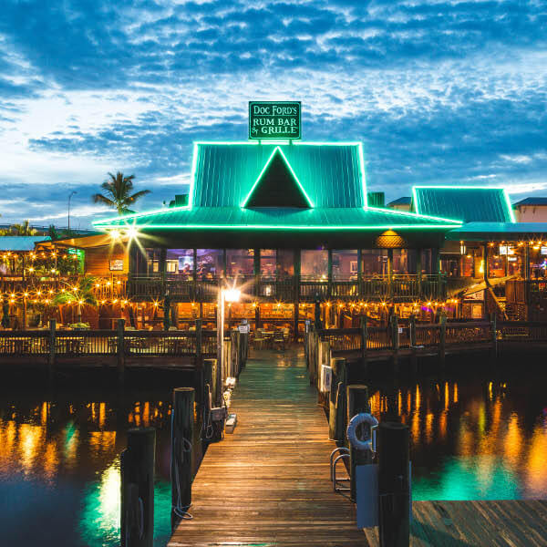 Doc Ford's Bar & Rum Grill near our vacation home in Fort Myers Beach