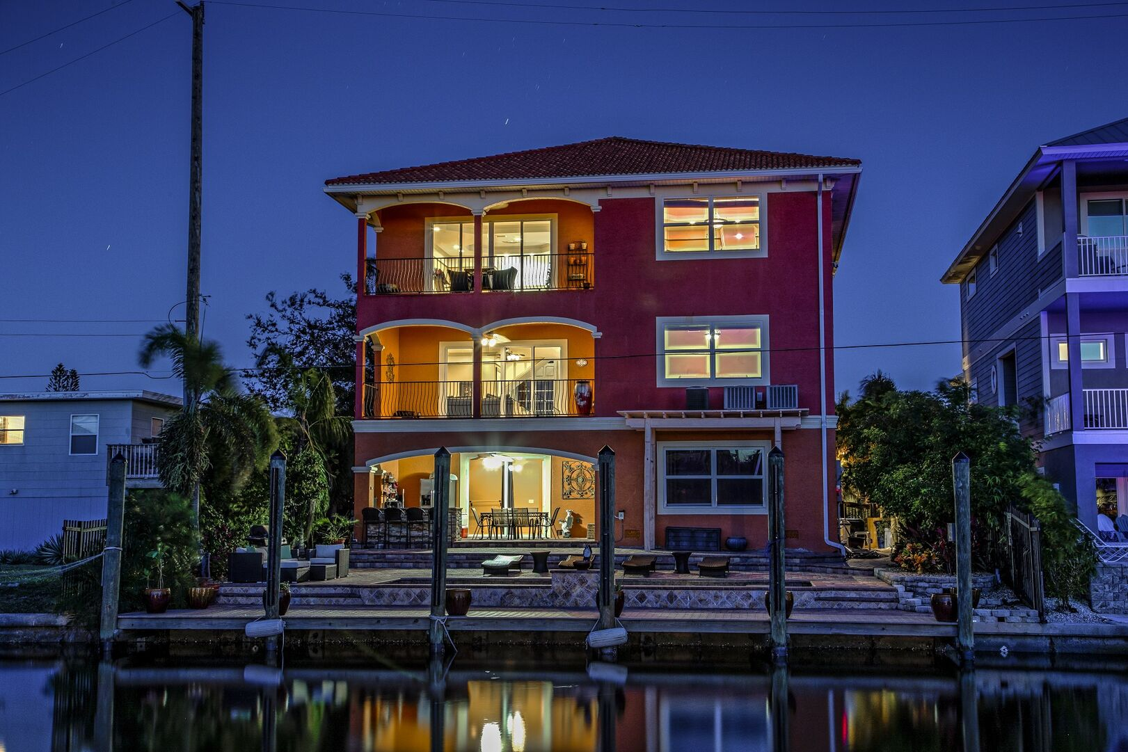 Exterior view of Casa Corine vacation home in Fort Myers Beach