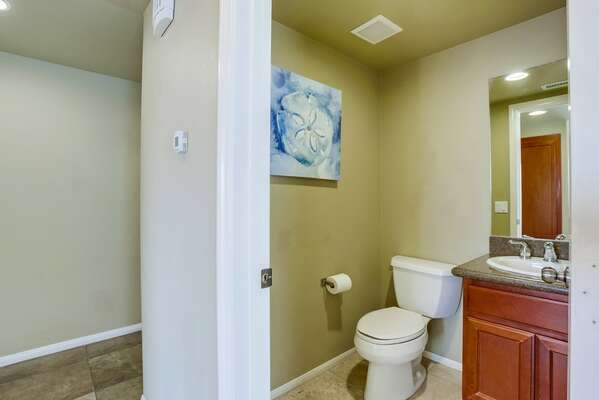 Powder Room off of Main Living Area