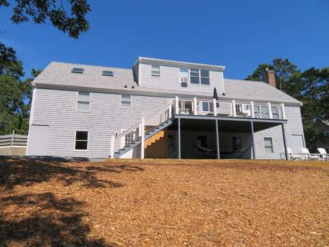 Back of the house from the path to the pond - 162 Owl Pond Brewster Cape Cod - New England Vacation Rentals