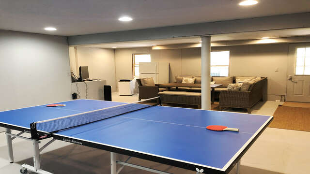 Ping Pong is always fun after a day in the sun!  162 Owl Pond Brewster Cape Cod - New England Vacation Rentals