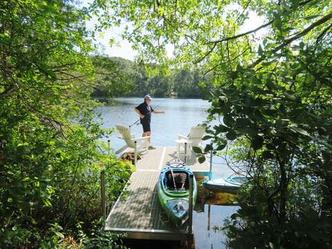 Fish from the dock - 162 Owl Pond Brewster Cape Cod - New England Vacation Rentals