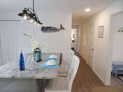 Hall to the 1st floor bedrooms - 162 Owl Pond Brewster Cape Cod - New England Vacation Rentals