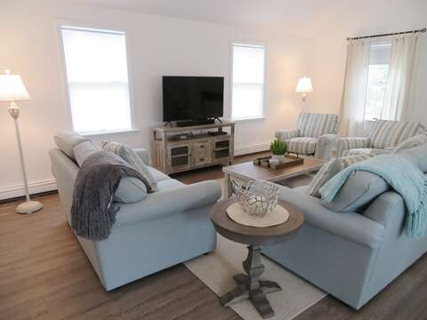 Family room with flat screen TV - 162 Owl Pond Brewster Cape Cod - New England Vacation Rentals