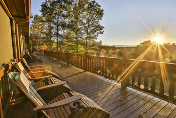 Enjoy the sunset from the back deck.