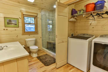 Laundry is conveniently located on the main level with full size washer and dryer between the main bath and bedroom