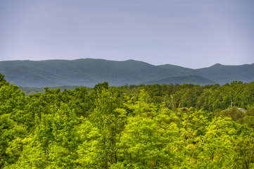 The wide range mountain view from the back deck is breathtaking.