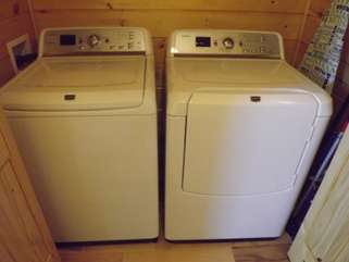 Washer and Dryer provided for your use during your stay at Inspiration Ridge
