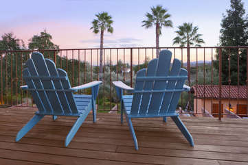 Share a moment while you watch the sun set from the balcony off the main bedroom