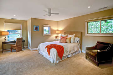 Roomy second guest bedroom is perfect for sleep, work, or play