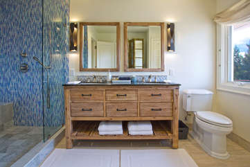 Fully remodeled upstairs bath — indulge yourself in a spa-like experience