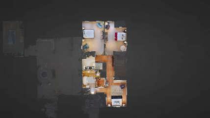 3-D virtual reality upstairs floor plan