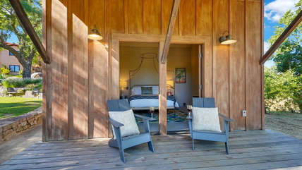 Create a romantic evening in your own private cottage away from the main house
