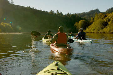 Let us help you plan a fun day of kayaking down the nearby Russian River