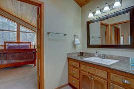 Hall bathroom - access to upstairs bedroom