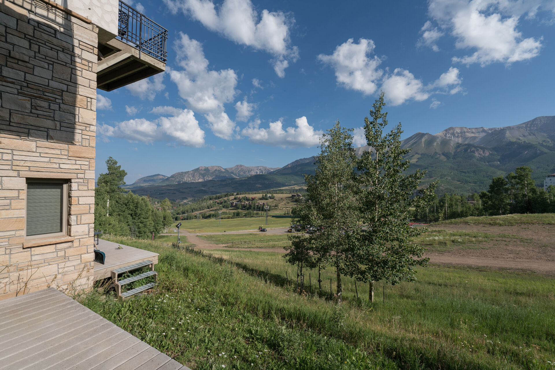 View of the wilderness from this mountain village condo.