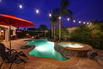 Plenty of umbrellas for shade, Vacay Stay will also provide pool towels so you can pack lite.
