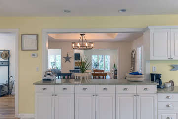 Kitchen is open to dining room
