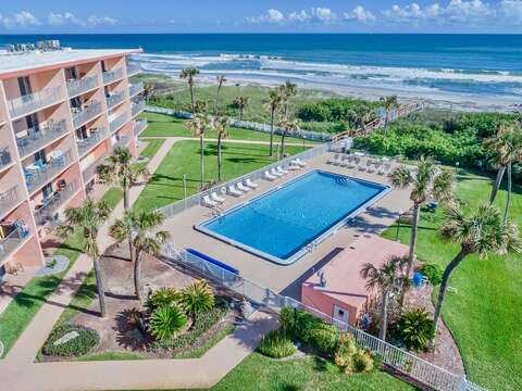 Cocoa Beach Towers is right on the beach and just steps to the pier