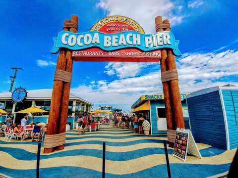 Only 1.2 miles north of the Cocoa Beach Pier!