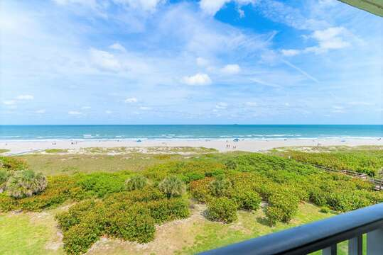 Gorgeous 180 degree view from your private oceanfront balcony