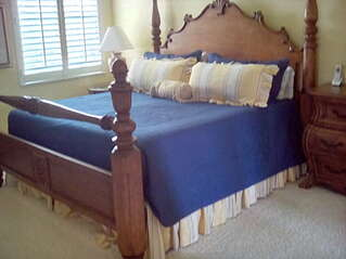 Beautiful master suite with a king size bed