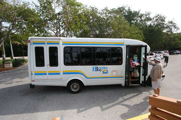 Bus shuttle that taxis residents to and from Bonita Beach