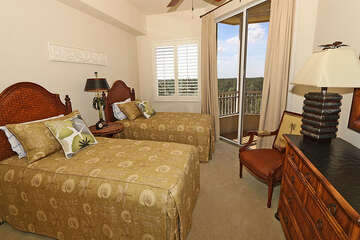 Lovely guest bedroom with a great view