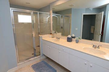 Double sink vanity master bath