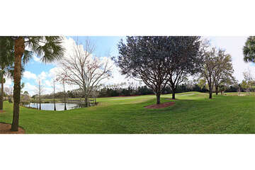 Breathtaking lake and golf course view