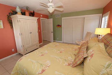 Large master bedroom with king size bed