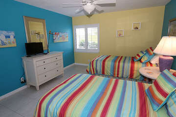 Fun and Bright guest room