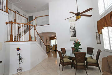 Wonderful high ceilings makes the space feel larger