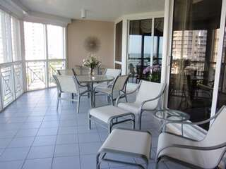 Enjoy a spectacular screened lanai with seating for outside dining and lounging in open air!