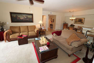 Warm and inviting living room