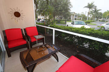 Enjoy the fresh air and lounge on this pretty patio