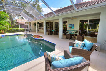 Enjoy the warm Florida weather at your own private pool