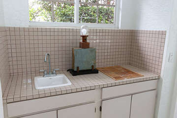 Lanai counter and sink space