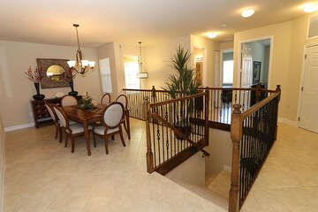 Beautiful stair case and dining table for 6
