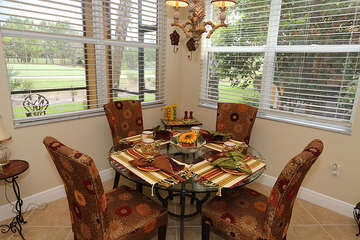 Breakfast nook seating for 4
