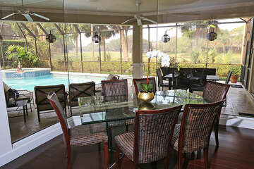 Dining Room with Beautiful Pool View