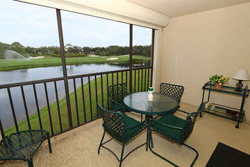 Enjoy the warm Florida weather on the screened in patio