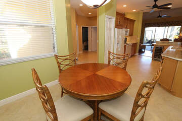 Gorgeous round wooden dining table