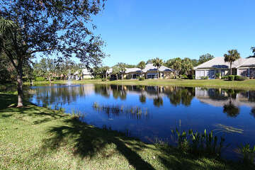 Nestled on culdesac with a serene lake view