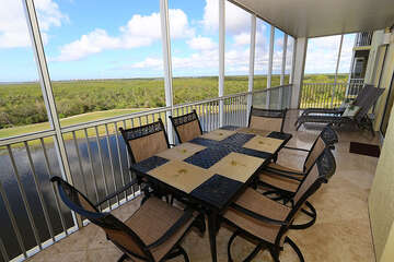 Take in the views with expansive outdoor dining