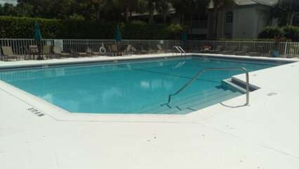 Enjoy the warm Florida weather at the community pool