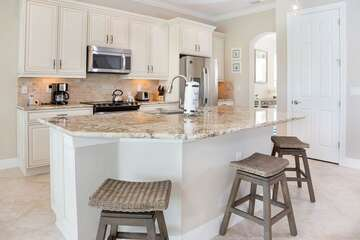 Kitchen with Sit Up Counter