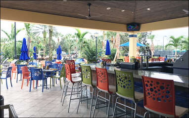 Tiki and Grill pool side at Pelican Preserve Town Center