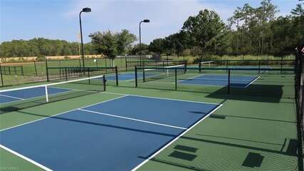 Tennis Can Pickle Ball Courts at Pelican Preserve